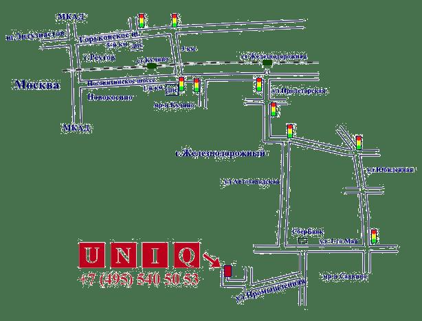 Схема проезда UNIQ CRANE