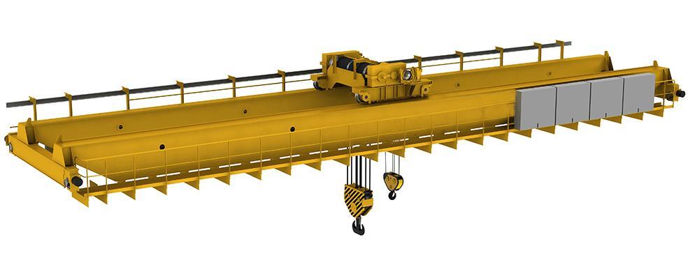 2 kryuka - Двухбалочный мостовой кран 50/10 т.