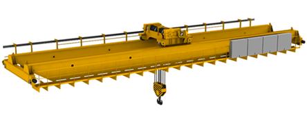 models - Двухбалочный мостовой кран 50/10 т.